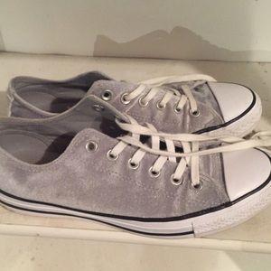 Grey velvet converse